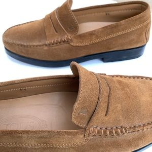 Tod's mens Penny Loafers driving Moccasins Sz 8.5